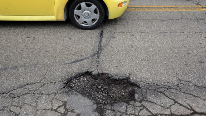 A deep pothole was reported by Jackson residents near Donald and West streets