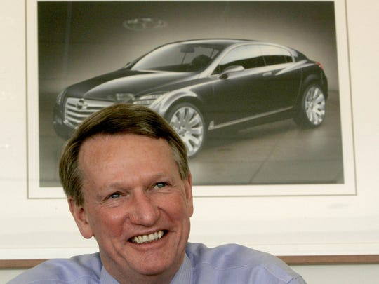 General Motors Chairman and CEO Rick Wagoner talks with the Detroit Free Press in his office in the 300 tower of the Renaissance Center in 2007.