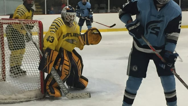 Hartland's Andrew Heuwagen made 16 saves for his sixth shutout in 11 games.