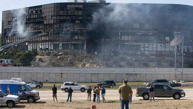 A single-engine plane crashed into this building in Austin, Texas, in February 2010.