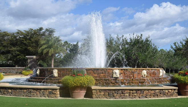 This fountain is one of the centerpieces of Talis Park.