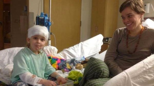 Lacey and Garnett Spears in his room at Nyack Hospital days before his death.