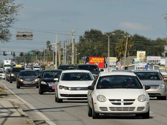 Wickham Road drivers travel between Aurora Road and Eau Gallie Boulevard.