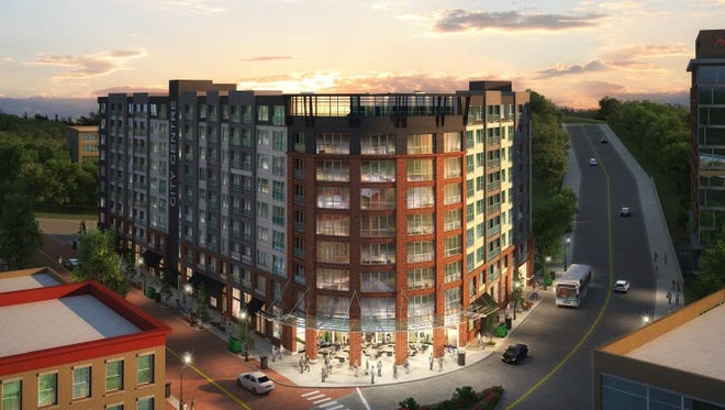 A rendering of City Centre, the latest proposal for the Trebloc property at 301 E. State St.