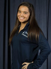 The 2017 All-Shore Gymnastics team. Alexis Rogers of