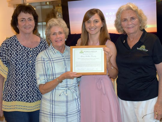 From left are Women's Refuge of Vero Beach Director of Counseling Services and Biblical Counselor Cheryl Wood, Board of Directors Vice President Langie Mannion, Graduate Artesia and Organization's Founder Donna Lee Robart.