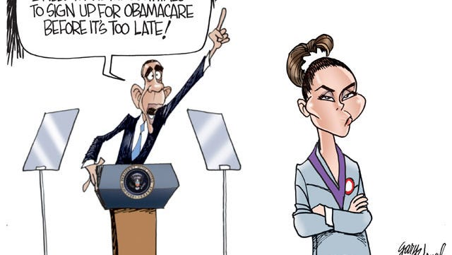The President is trying hard to get millennials to enroll in Obamacare but their reaction so far has been like that of Olymipic gymnast, McKayla Maroney after she failed to win the gold.