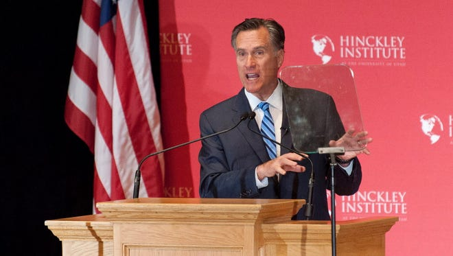 Mitt Romney on March 3, 2016, Salt Lake City.