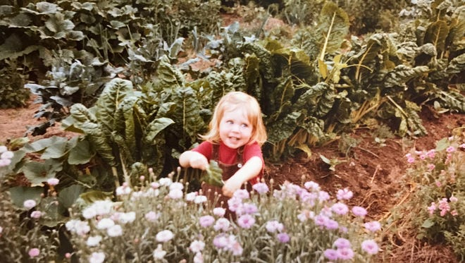 Chef Annie Pettry of Decca in her garden as a child.