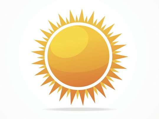 Vector Set of glossy sun
