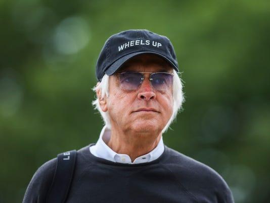 Trainer Bob Baffert at Belmont Stakes