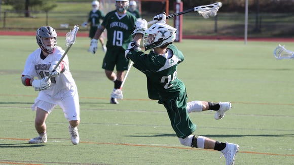 Yorktown beat Scarsdale 20-1 at Scarsdale April 20,