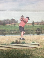 Russell McGregor was one of the participants in the Annual Miner's Golf Tournament held at Elkwood Golf Course in Sturgis in April 2005.
