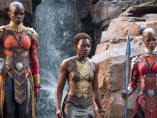 Looking super-cool are Danai Gurira (left), Lupita