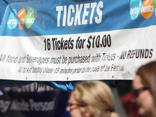 Guests purchase tickets redeemable for food and beverages