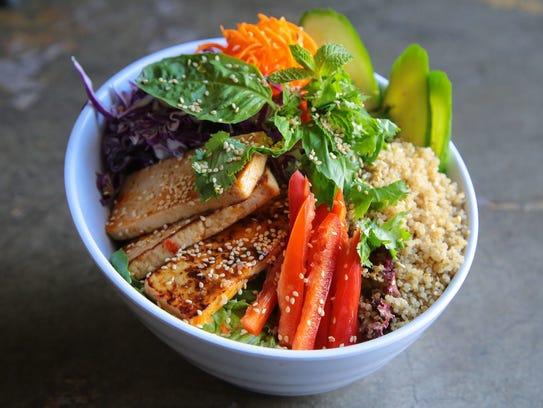 Chef Tanya's Tasty Thai Tofu Bowl.