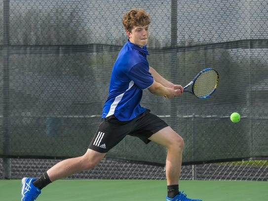 Grant Counts plays No. 2 singles for Oshkosh West and qualified for the state individual tournament.