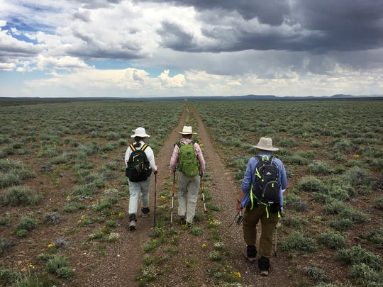 Hikers set off across the remote Sheldon National Wildlife