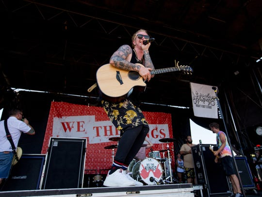 We The Kings performs on June 28, 2018, during the 2018 Vans Warped Tour at Ak-Chin Pavilion in Phoenix, Arizona. This is the final cross-country run for the 23-year-old music festival.