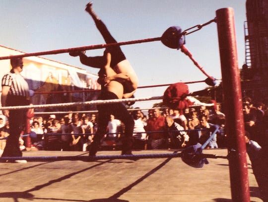 "Carlos Garcias wrestled under the name ""Indian Pete""."