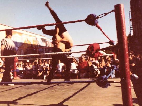 "Carlos Garcias wrestled under the name ""Indian Pete""."