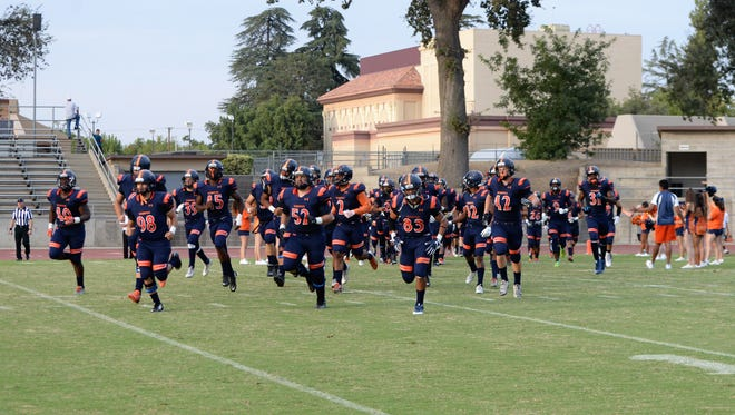 The College of the Sequoias football team host its homecoming game on Saturday against Modesto College at 7:30 pm.