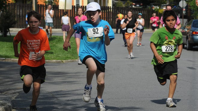 Hundreds participated in the Asheville Jewish Community Center's last Falafel 5K. The race will be Sunday in North Asheville.