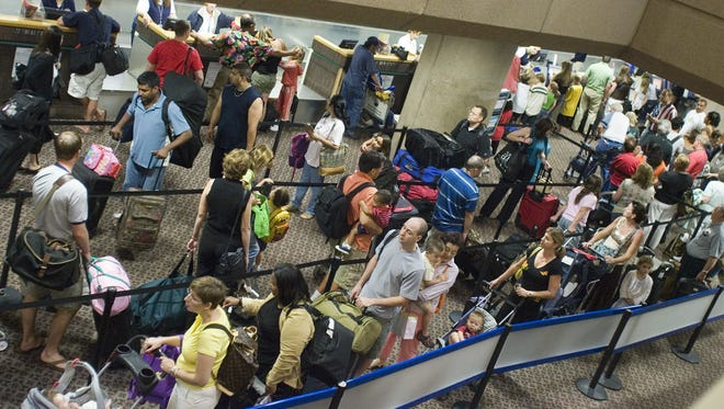 March is the busiest month at Phoenix Sky Harbor International Airport, so be prepared for crowds at check-in, security and baggage claim.