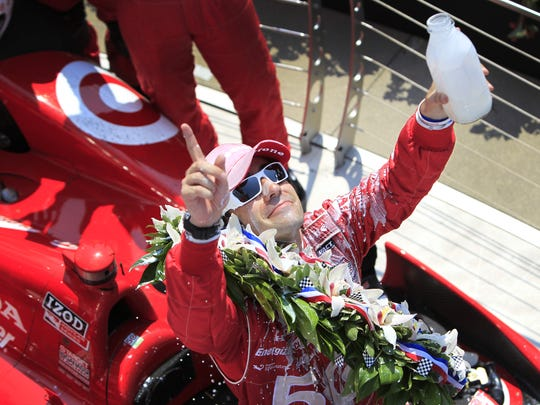 Dario Franchitti raced the Target-sponsored car to looks victory lane the 96th Indianapolis 500 in 2011.