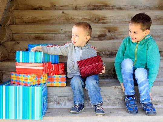 kids rejoice to gifts