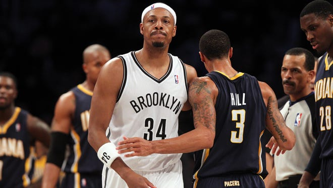 According to an Associated Press source, Paul Pierce, left, is headed to the Washington Wizards after agreeing on a two-year deal.
