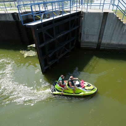 The Menasha lock is usually busy on Labor Day weekend,