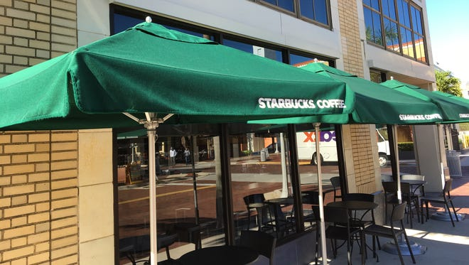 The Starbucks coffee chain has become a topic of discussion in Fort Myers, a day after the company pledged to find jobs for 10,000 refugees.