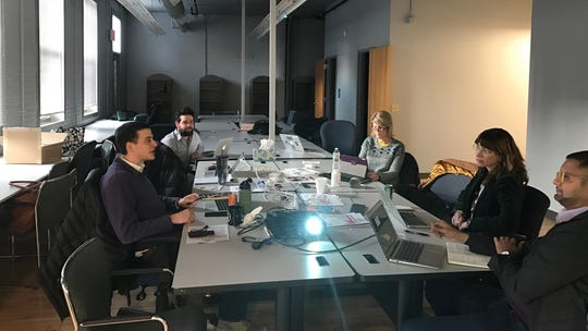 gener8tor team members conduct interviews with startups