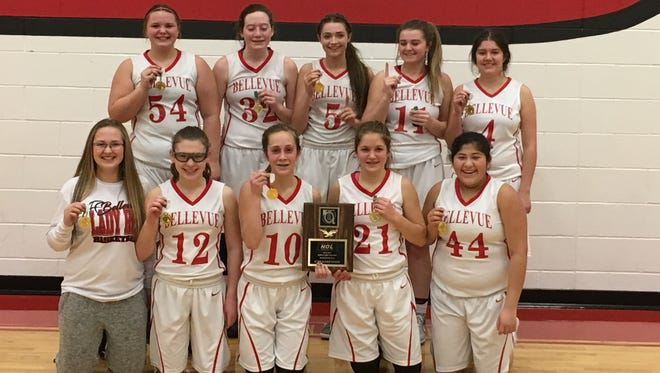Bellevue's eighth-grade girls basketball team earned a conference crown with an unblemished record.