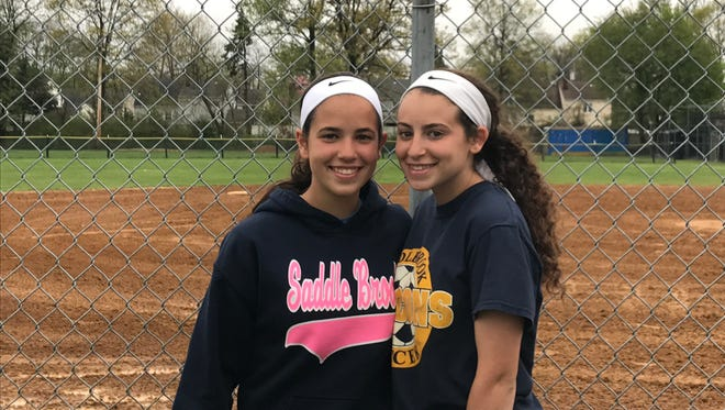 Ashley (left) and Alexis Georgevich have gotten off to outstanding starts for Saddle Brook in their freshman seasons. They've helped the Falcons get off to a 9-3 start.