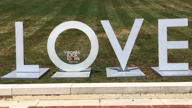 Virginia is for Lovers LOVE sign will be on display at Mary Baldwin University in Staunton through July 24. Virginia Tourism awarded sponsorship to Heifetz and Staunton Music Festival as part of its Virginia is for Music Lovers campaign.