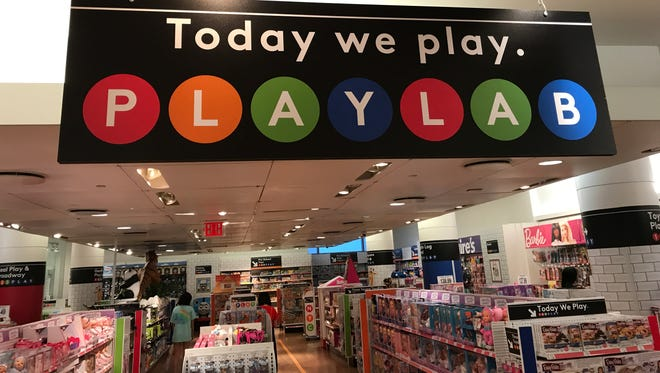 The Toys R Us temporary store in New York's Times Square on Thursday, Sept. 28, 2017. Times Square has one of the first play labs in the country, and the play spaces will be set up in a total of 42 stores around the country.