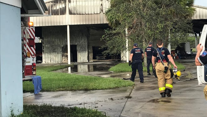 Martin County Fire Rescue sent a fleet of vehicles to a Palm City fire.