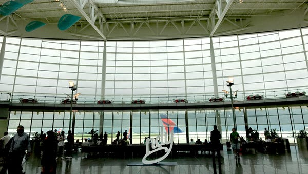 The main terminal of Indianapolis International...