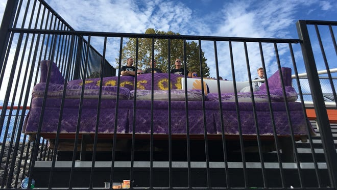 The IHSAA won't let Guerin Catholic students bring their 'lucky couch' into the student section for the state finals.