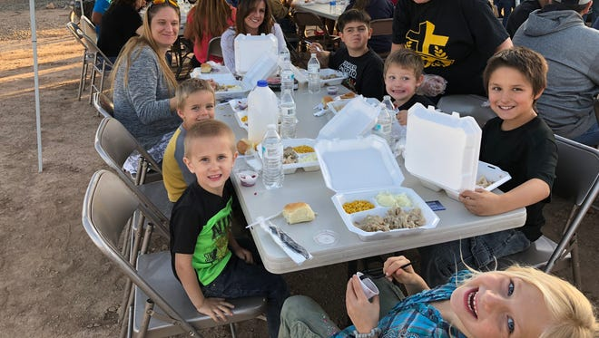 Mountain View Assembly of God fed 158 community members in need Tuesday evening.
