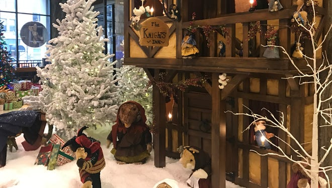 A Christmas in King Arthur's Court is the theme of this year's BMO Harris lobby holiday display.