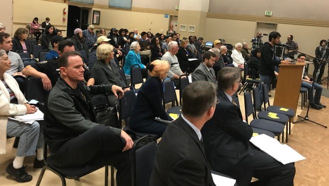 About 50 people attended a hearing on district elections on Wednesday at the South Oxnard Community Center.