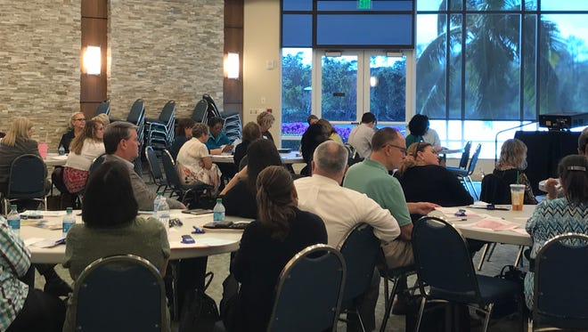 Officials with social service agencies that help seniors met Tuesday, Jan. 16, at Avow Hospice in Naples to talk about state funding.