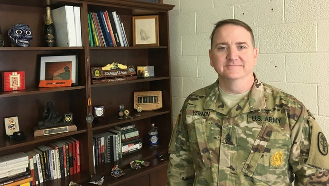 Command Sgt. Maj. William S.D. Vernon is the new senior enlisted leader for Troop Command at William Beaumont Army Medical Center.