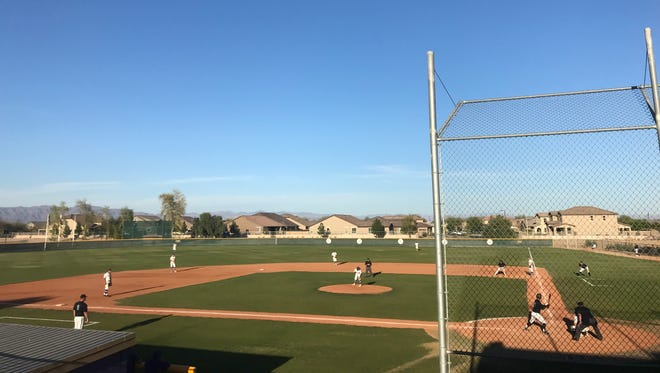 Queen Creek and Gilbert Mesquite in the top of 6th inning.