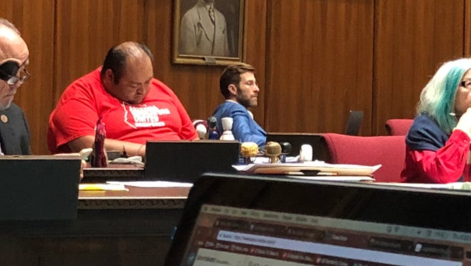 In the House of Representatives, the long night was getting to Rep. Daniel Hernandez, D-Tucson, in red early May 3, 2018.
