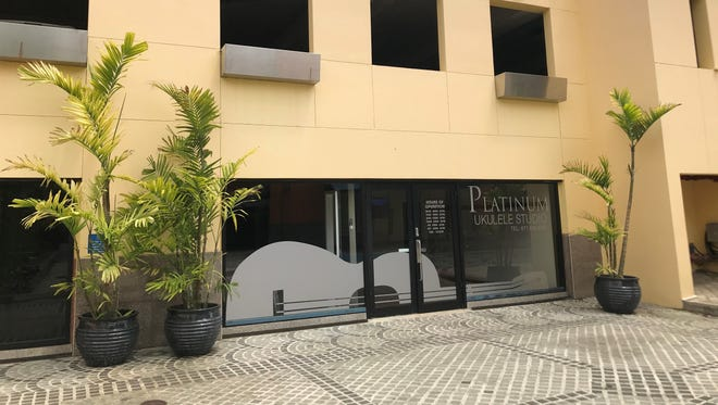 The store front of Platinum Ukulele Studio, located in Acanta Mall in Tumon.  The public is invited to celebrate Platinum Ukulele Studios' grand opening from 12 to 7 p.m., Saturday June 9 at the Acanta Mall in Tumon.