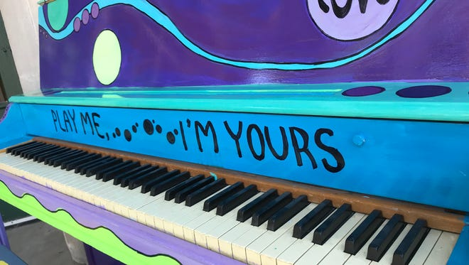 The new piano outside the Community Center Gym was painted by Cedarburg High School art students.